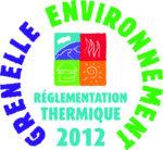 Logo réglementation thermique Grenelle environnement 2012